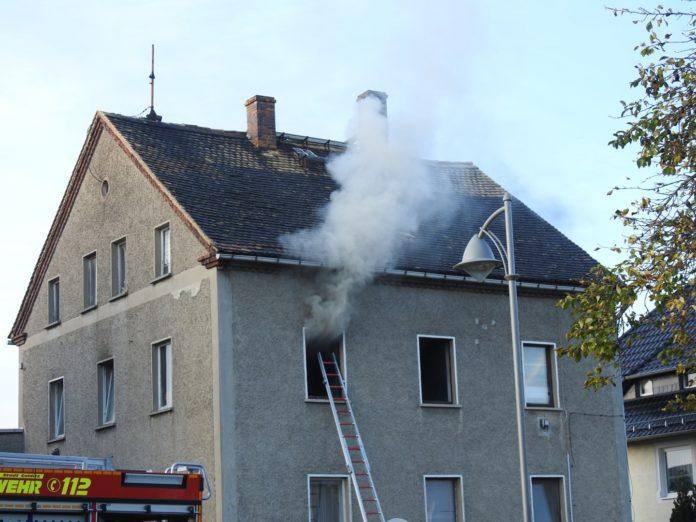 Küchenbrand in Colditz