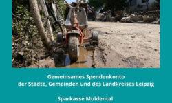 Spendenkonto Hochwasserhilfe 2021
